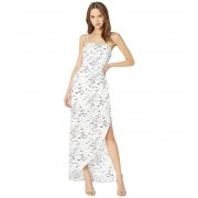 BCBGeneration Evening Strappy Back Woven Dress Optic White