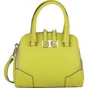 Caterfly Women's Stylish PU Leather Green Adjustable Strap Hand Held Tote & Sling Bag / Shoulder Bag Waterproof Shoulder Bag(Green, 14 L)