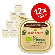Almo Nature BioOrganic Maintenance 12 x 100 г - био пиле и био зеленчуци