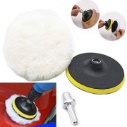 DIY Crafts 3inch Polishing Buffing Pad Felt Wheel Polishing Buffer+ Drill Adapter M10+20 Grm Cerium Oxide(Pack of 8 Pcs)
