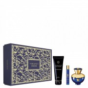 Versace Dylan Blue Pour Femme SET: Parfémovaná voda 100ml + Parfémovaná voda 10ml + Telové mlieko 150ml