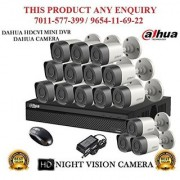 Dahua 1 MP HDCVI 16CH DVR + Bullet Camera 15Pcs CCTV Combo