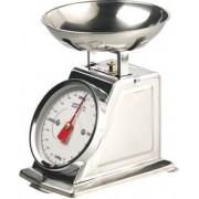 Rosenstein & Söhne Balance de cuisine rétro analogique en acier inoxydable