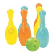 Mega set de bowling Fisher Price, 6 popice, 1 minge, 2 ani+