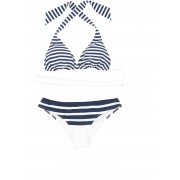Dolce & Gabbana Striped Bikini RIGA BLU F.DO BIANCO
