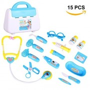 GlobalDeal Kids Pretend Doctor's Medical Playing Set Case Education Kit Role Play Toy Gift(Blue)