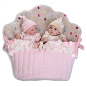 NPK 26cm Cute Pink Twin Baby Girl And Boy Full Soft Silicone Reborn Doll Simulation Reborn Toys