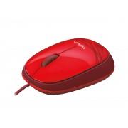 Logitech M105 - Rato - óptico - com cabo - USB - vermelho