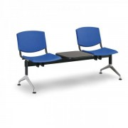 Kovo Praktik Plastové lavice Design, 2-sedák + stolek modrá