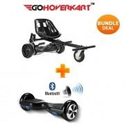 """Monster Hoverkart and 6.5"""" Bluetooth Hoverboard Carbon Black Go Monster Bundle"""