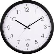 Ceas de perete cuarţ, negru, Hama PG-350