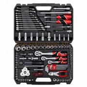 """Yato Dugókulcs készlet racsnis hajtókarral 1/2"""", 1/4"""",3/8"""" 126 részes (YT-38875)"""