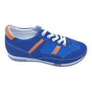 Pantofi sport băieți albaștri din piele întoarsă