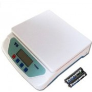 Mezire Ts-500v White Electronic Digital 24kg With Inbuilt Batteries Weighing Scale (White) Weighing Scale(White)