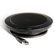 Jabra SPEAK™ 410 Speakerphone for UC, USB Conference solution, 360-degree-microphone, Plug&Play, mute and volume button, Wideband Version B: incl. Smart Button activated via Direct