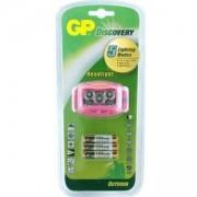 Фенер Челник, LED осветление с 3 батерии ААА, 35 лумена, розов цвят, GP-F-LOE213PAU