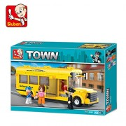 Sluban SMALL SCHOOL BUS-219PCS ( M38-B0507 ) (Lego compatible)