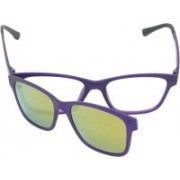 FIZAN Rectangular Sunglasses(Clear, Orange)
