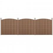 Ограда от WPC панели, заоблени краища [neu.holz]®185x562 cm Кафява
