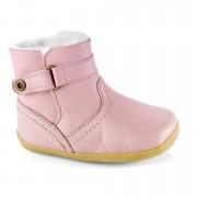 Bobux Világos rózsaszín bélelt tépőzáras tipegő csizma - 21 (15-27 hó)