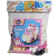 Cuburi constructie din plastic pentru copii 220 piese Multicolore
