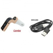 Combo of Car G7 Bluetooth Device with Dual USB DATA Cable
