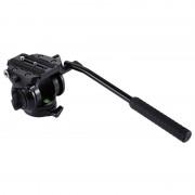 PULUZ Heavy Duty videocamera actie vloeistof slepen statiefkop schuifsysteem plaat voor DSLR & SLR camera's (zwart)