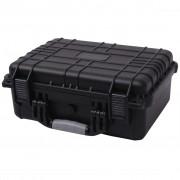 vidaXL Защитен куфар за оборудване, 40.6x33x17.4 cм, черен