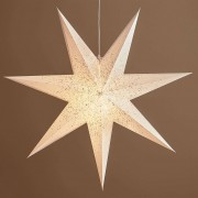 Olivia decorative star in white
