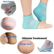 D S Heel Pain Relief Silicon Gel Heel Socks 1 pair