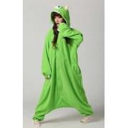 KIMU Onesie Mike pak Monsters Inc. groen - maat S-M - monsterpak monster kostuum alien jumpsuit huispak festival