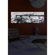 Tablou pe panza iluminat Shining, 239SHN1224, 30 x 90 cm, panza