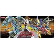 YuGiOh Card Supplies Gold Play Mat #2 [Blue Eyes White Dragon, Kaiba & XYZ Dragon Cannon]