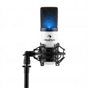 auna MIC-900-WH LED, бяло, USB, студиен микрофон с кондензатор, кардиоиден, студиен (HKMIC-900-WH-LED)