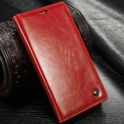 Samsung Galaxy Note 4 rustiek leren boekhoesje rood