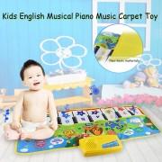 EH Música De Piano Musical Inglés Kids Play Alfombras Mat Juguete Electrónico Educativo - Blanco Y Negro