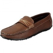 FAUSTO Brown Men's Synthetic Loafers