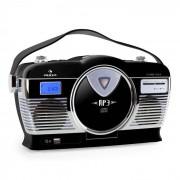 Auna RCD-70 Retroradio UKW USB CD Batterie schwarz