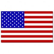 Merkloos Landen thema vlaggen Stars and Stripes Amerika/USA 90 x 150 cm feestversiering