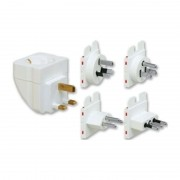 Multi-travel plug adapter set in white