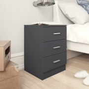 vidaXL Нощни шкафчета, 2 бр, сиви, 38x35x56 см, ПДЧ