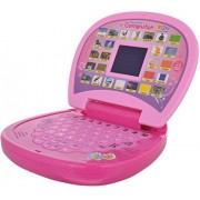 Tingoking Pink Educational Learning Kids Laptop, LED Display, with Music Learn Numbers and Alphabets