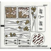 "Lego Original Sticker Sheet for The Lord of the Rings Set #79008 ""Pirate Ship Ambush"""