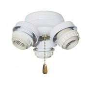 Emerson Tortuga de tres luces con tres bombillas fluorescentes compactas de 13 vatios, base media, 5.5 pulgadas de ancho, 3.5 pulgadas de alto, Misión, Cepillado inoxidable