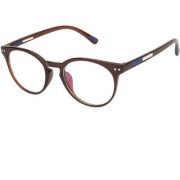 Arzonai Percey Round Brown-Transparent UV Protection Sunglasses For Men & Women [MA-321-S4 ]