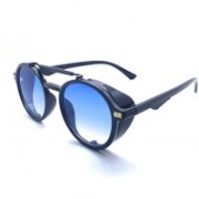 mr cart Round Sunglasses(Blue)