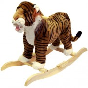 Happy Trails Tiger Plush Rocking Animal Ride On