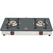 Chef Pro CGS752 Classic 2 Burner Glass Cook Top - Black