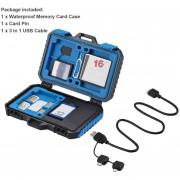 EW Impermeable PULUZ Caso Memory Card Reader 3.0 Caja de almacenamiento de la cámara