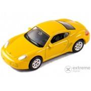 Mașinuță Welly Prosche Cayman S, galben 1:60-64